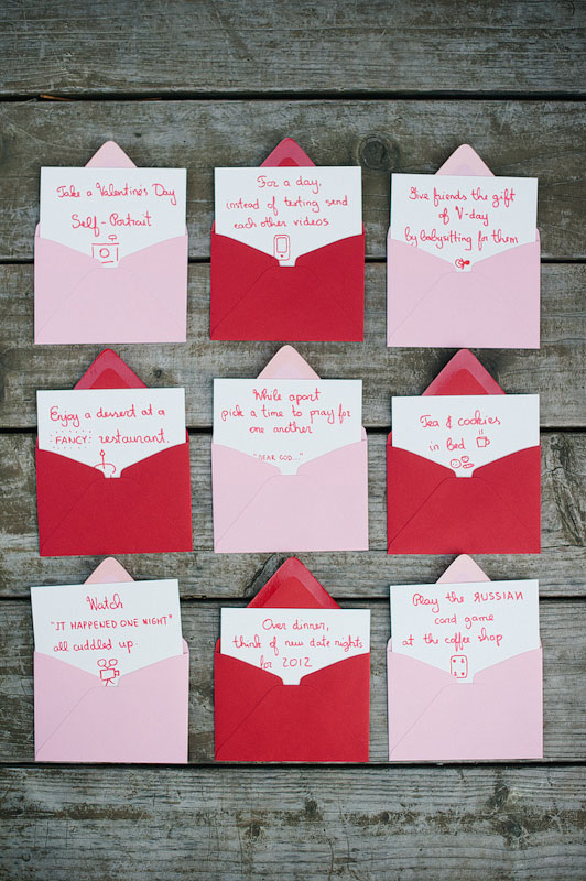 ... Romance Pink And Red Envelopes With Handwritten Notecards For Valentinesu0027s  Day