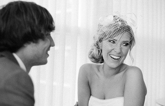 Beautiful bride laughing