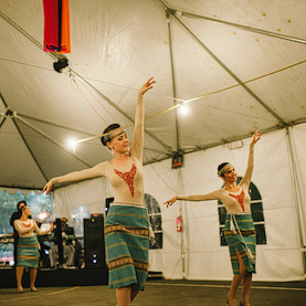 Armenian girls dancing at the Annual Armenian Food Festival & Bazaar in San Francisco, CA