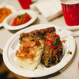 Food at the Annual Armenian Food Festival & Bazaar