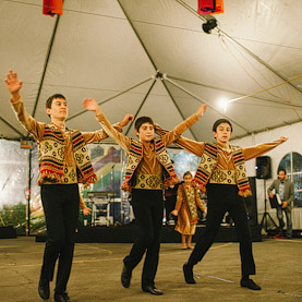 Boys dancing at Annual Armenian Food Festival & Bazaar