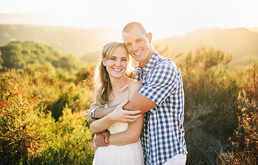 Portrait of a guy and a girl with sun flare