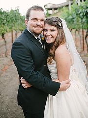 Wedding portrait at Thomas Fogarty Winery