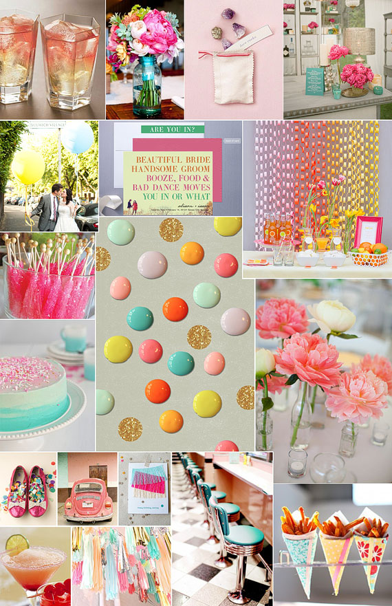 The Lab Event inspiration board for Pictilio, Milkglass Vintage Rentals, Dauphine, A Savvy Event, Sweet on Cake, ValleyFlora