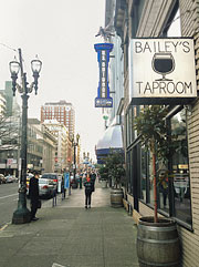 Downtown streets of Portland, OR
