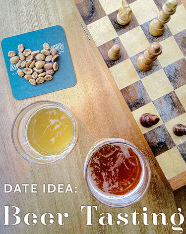 Beer, peanuts and chess