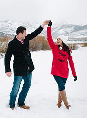 Dance in the snow!