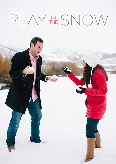 Snowball fight - romantic date idea