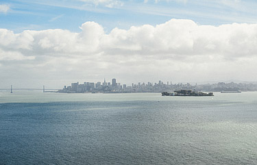 San Francisco cityscape photographed from Angel Island