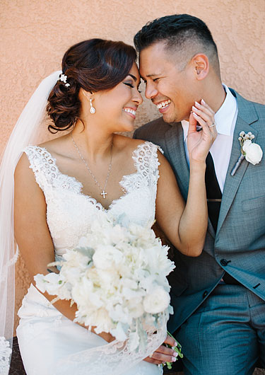 Tender emotion. Bride and groom in Rios-Lovell Winery in Livermore, CA