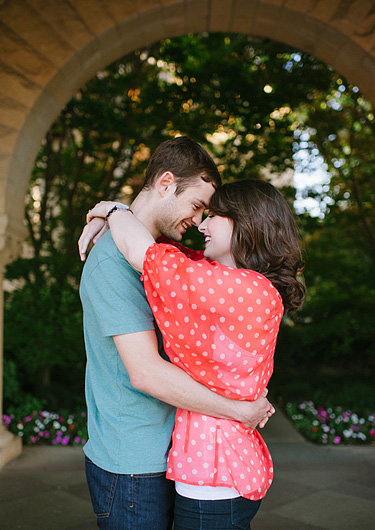 Stanford University engagement portraits.
