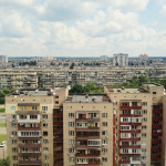 Apartment buildings in Kiev