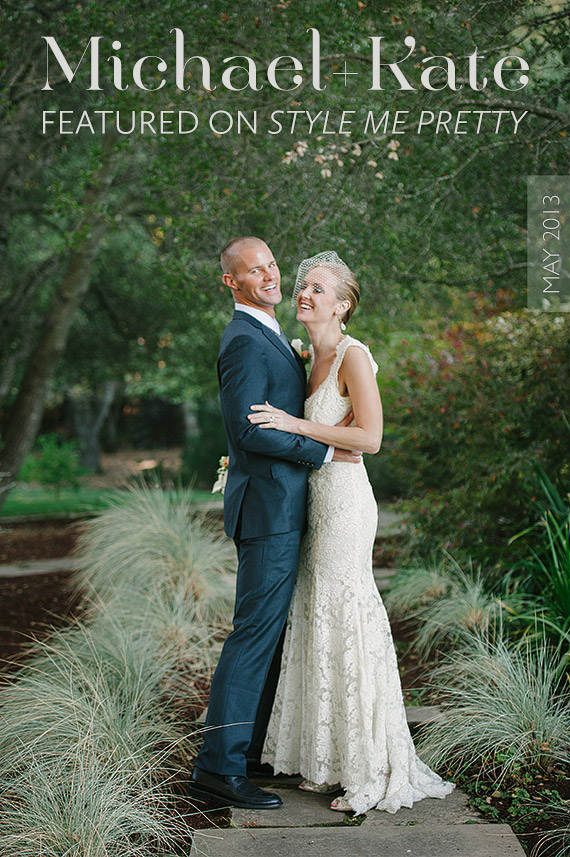 Woodside backyard wedding on Style Me Pretty