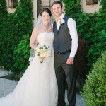 Bride and groom portrait at Clos LaCahance Winery