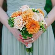 Bridesmaid bouquet by Ah Sam
