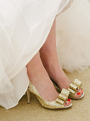 Kate Spade shoes gold and sparkly