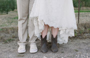 Bride and groom's shoes detail. Wedding at Beltane Ranch, Sonoma.