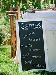Outdoor games at the wedding reception