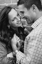 San Francisco engagement photos. Black and white.