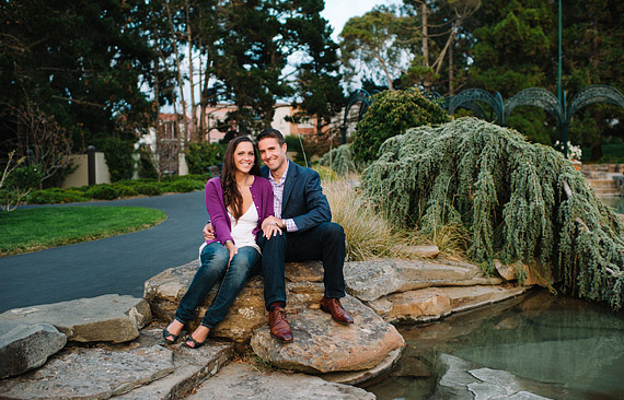 Engagement photos at Lucas Digital Arts Center.