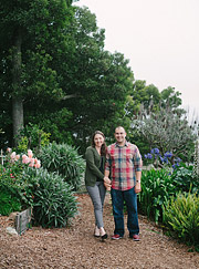 Photo of a couple in a community garden