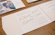Wedding invitation with custom caligraphy