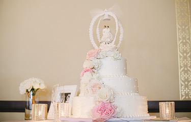 Wedding cake by Mazzetti's Bakery