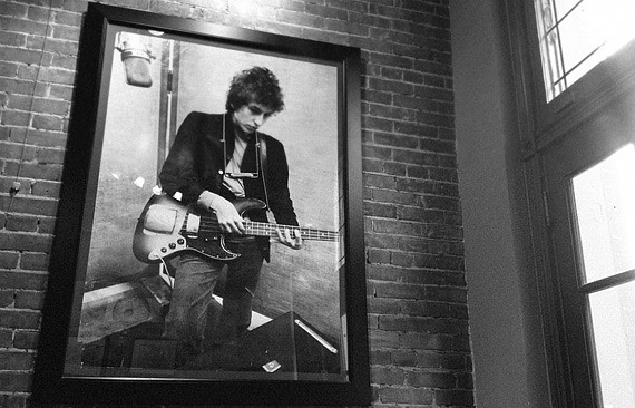 Artwork on the wall - Bob Dylan portrait