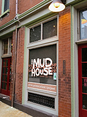 The Mud House coffee shop outside