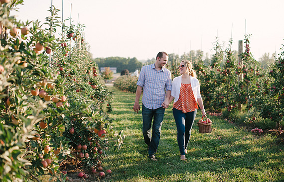 Apple picking in the fall - double date idea by Pictilio