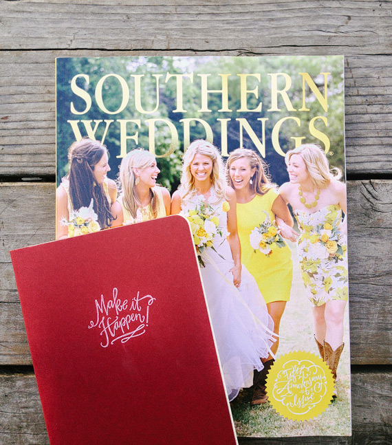 Making things happen 2013 notebook and Southern Weddings magazine