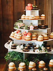 Cake / Sweets table at Outdoor Art Club wedding