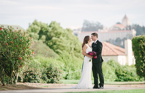 Bride and groom portrait at San Francisco Presidio Golf Club