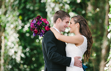 Portrait of bride and groom. Wedding photography at Presidio Golf Course