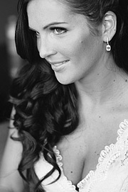 Close up portrait of the bride. San Francisco wedding.