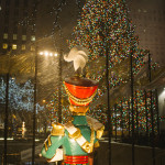 Christmas tree and drummer boy at Rockefeller Center in New York
