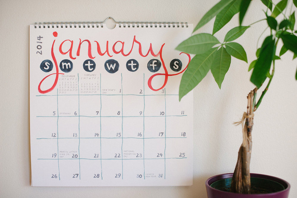 Wall Calendar - January 2014