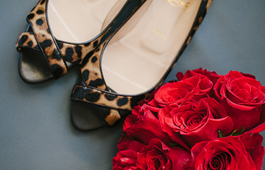 Wedding shoes with leopard print by Christian Louboutin