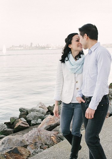 Engagement photos in Sausalito