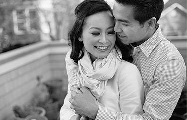 Portrait of a couple in Sausalito, CA