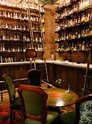Inside decor and feel of Multnomah Whiskey Library
