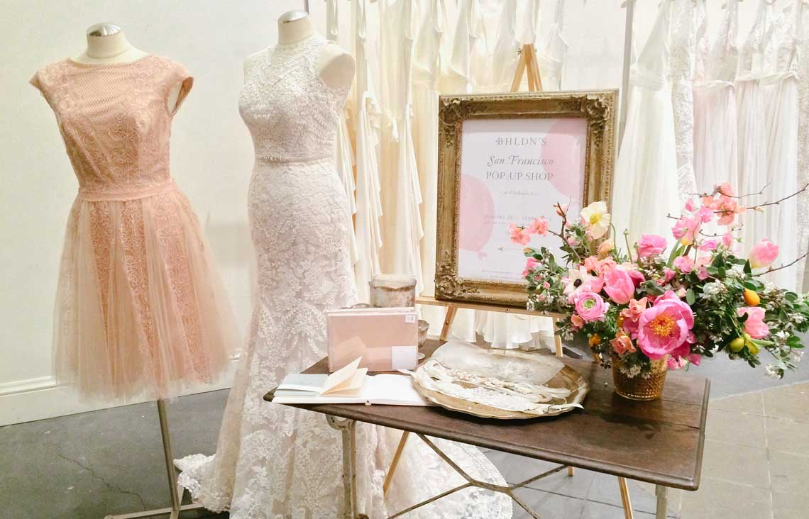 San Francisco hotst BHLDN pop up shop at Firehouse 8