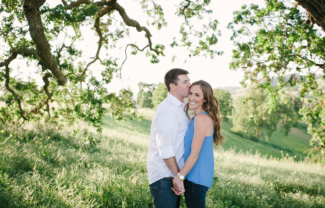 Romantic engagement photography near San Francisco#ilovetrees