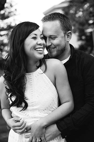 Black and white engagement photo. San Francisco engagement photography.