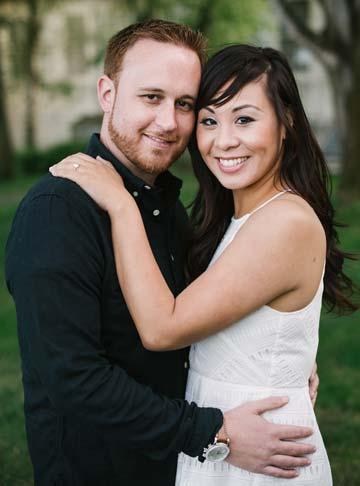 Engagement portrait in Presidio