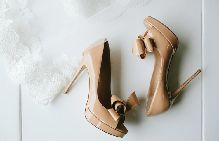 Wedding details - bride's shoes