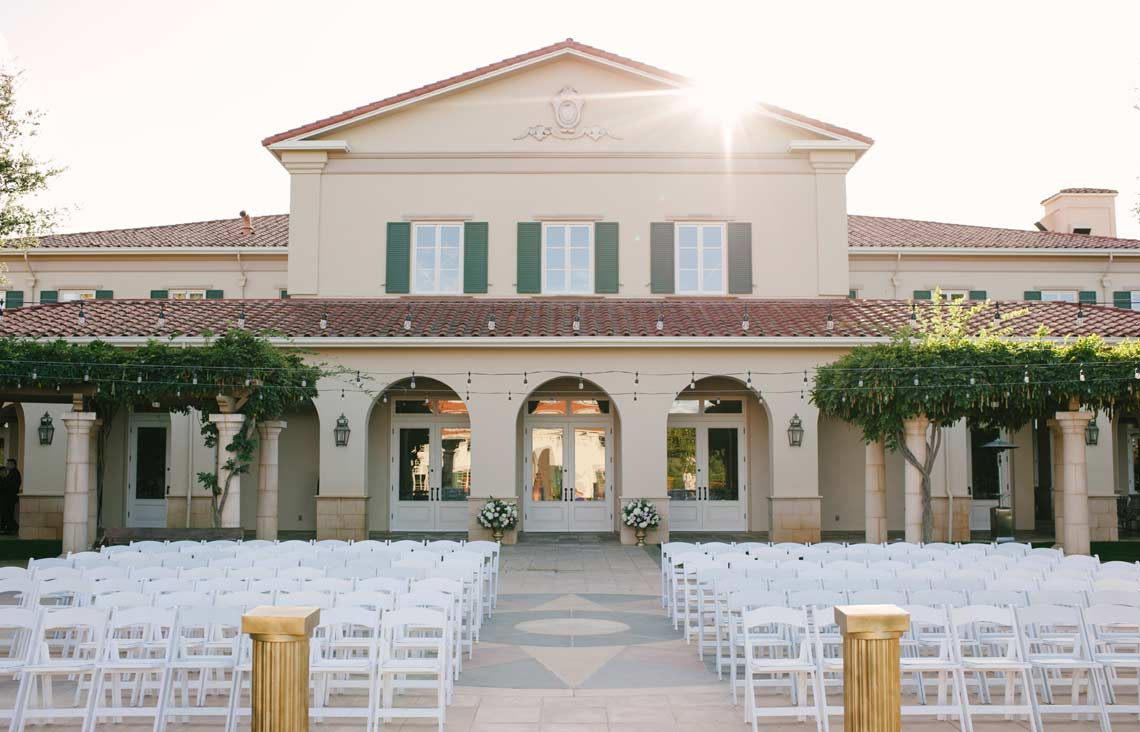 Outdoor wedding ceremony at Ruby Hill Golf Club