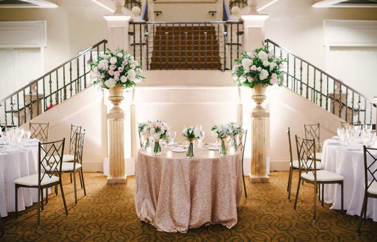 Wedding reception at Ruby Hill Golf Club