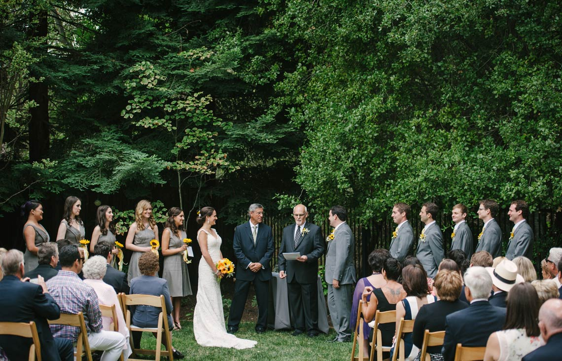 Intimate nuptials in a private residence
