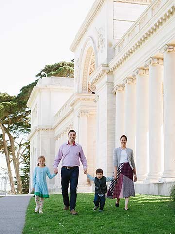 San Francisco family photography by Pictilio. Legion of Honor photography in San Francisco